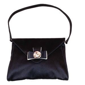 Casadei evening bag with bow and rhinestone